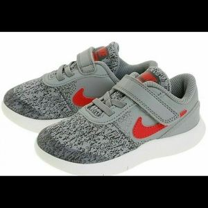 New Nike Flex Contact Red/Gray Toddler Shoes